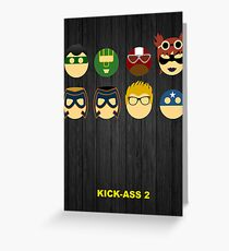 Minimalist Posters: Kick-Ass 2 Greeting Card