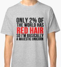 RED HAIR MAJESTIC UNICORN Classic T-Shirt