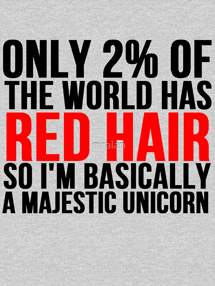 RED HAIR MAJESTIC UNICORN | Unisex T-Shirt