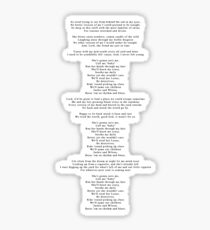 "Lyrics - ""Jackie And Wilson"" by Hozier Sticker"
