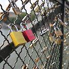 key to my heart _ bridge of locked hearts in paris by Vin  Zzep