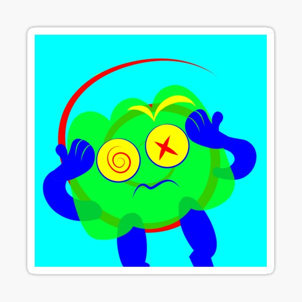 Gelatin Eyestrain Sticker