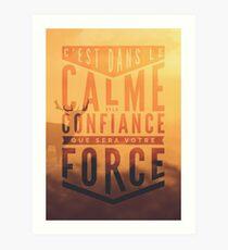 Ésaïe 30:15 Art Print