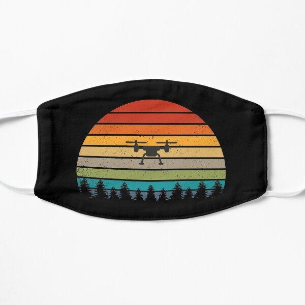 Quadrokopter Drohne Retro Vintage Shirt Geschenk Flache Maske