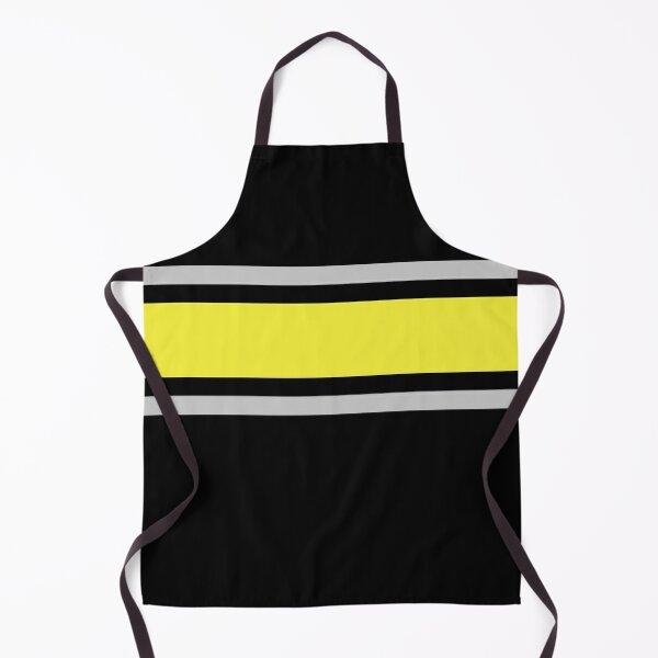 Black, Gray, & Yellow Power Stripe Apron