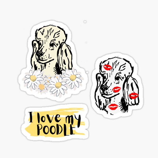 Poodle stickerpack Sticker