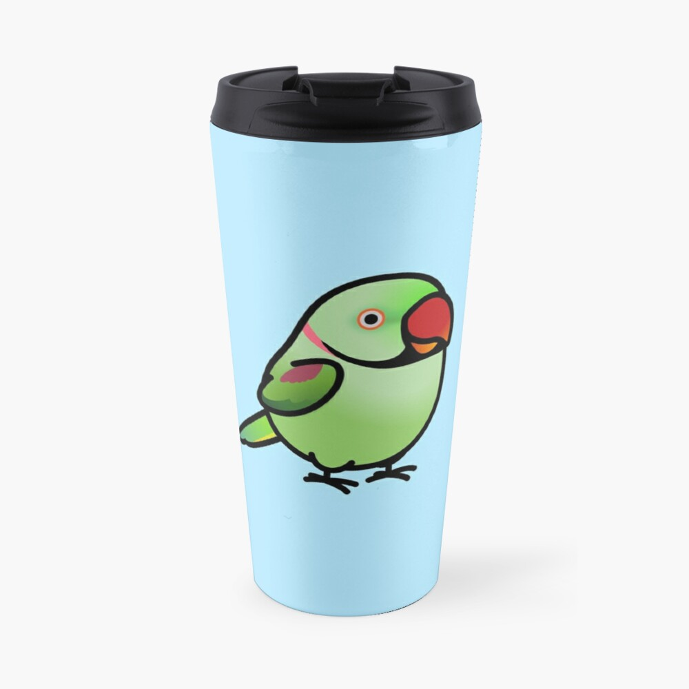 Chubby Alexandrine Indian Ringneck Parakeet Travel Mug