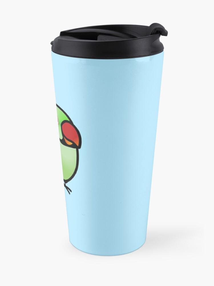 Alternate view of Chubby Alexandrine Indian Ringneck Parakeet Travel Mug