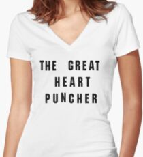 The Great Heart Puncher Women's Fitted V-Neck T-Shirt