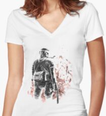 Big Boss /Sketched Women's Fitted V-Neck T-Shirt