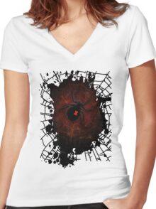 Black Widow (Signature Design) Women's Fitted V-Neck T-Shirt