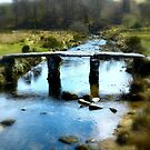 Clapper Bridge in Dartmoor by Gaylan Mills