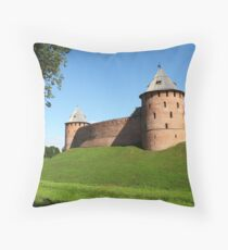 Fortress wall Throw Pillow