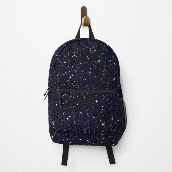 Cute and Beautiful Magic Blue Night Sky Shine Stars Backpack