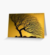 Silhouettes Calendar Cover Greeting Card