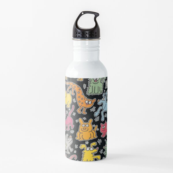 haring copy pop art Water Bottle