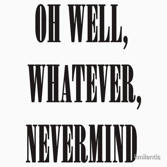 TShirtGifter presents: Nirvana oh well whatever nevermind lyrics shirt | Unisex T-Shirt