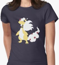 Mega Ampharos Minimalist Womens Fitted T-Shirt