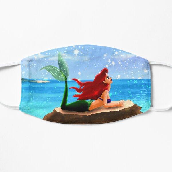 Little Mermaid - Azure Blue Flat Mask