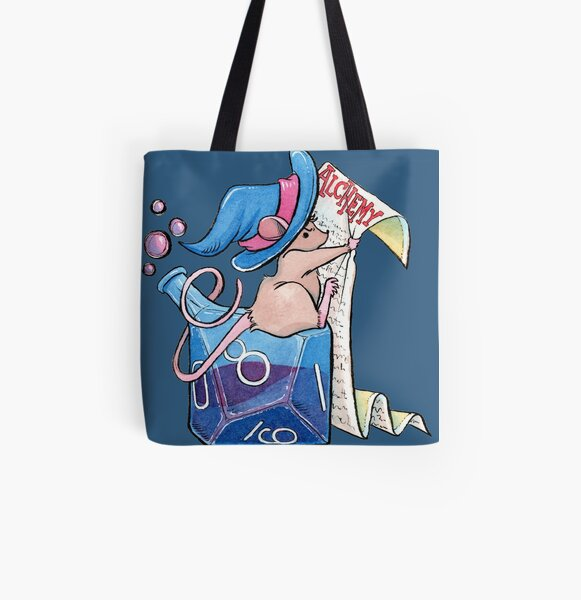Alchemist Mouse Dungeons and Dragons Inspired Bottle All Over Print Tote Bag