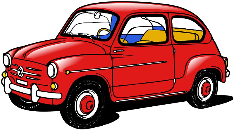 Quot Fiat 600 Red Quot Stickers By Karmadesigner Redbubble