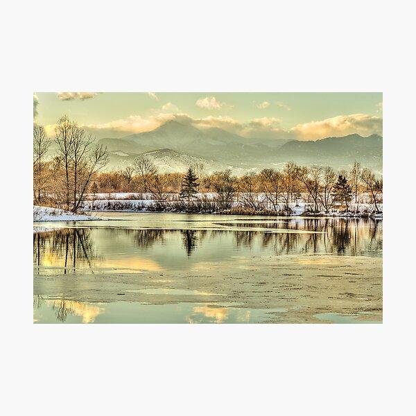 Golden Winter At Golden Ponds Photographic Print