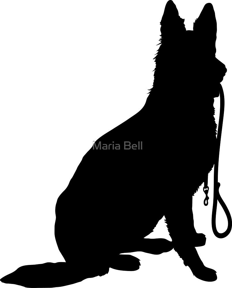 Shepherd with Leash by Maria Bell