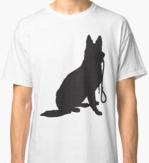 Shepherd with Leash Classic T-Shirt