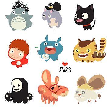 Studio Ghibli Friends by DEADCuteUK