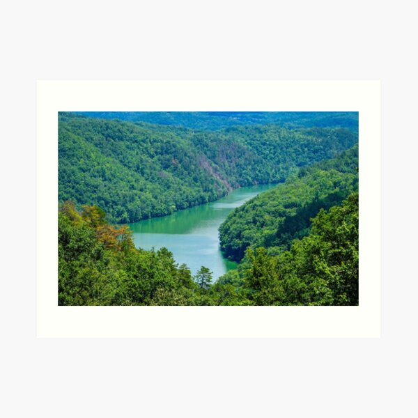 Great Smoky Mountains - Lake Overlook Art Print