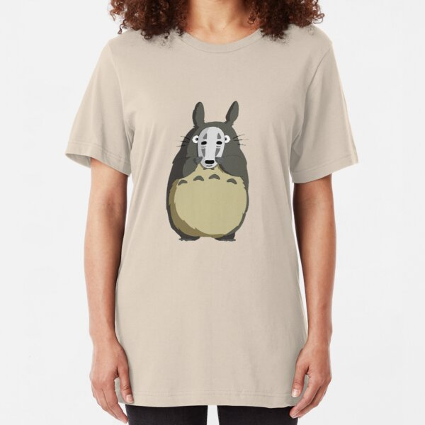 Totoro Mask Slim Fit T-Shirt
