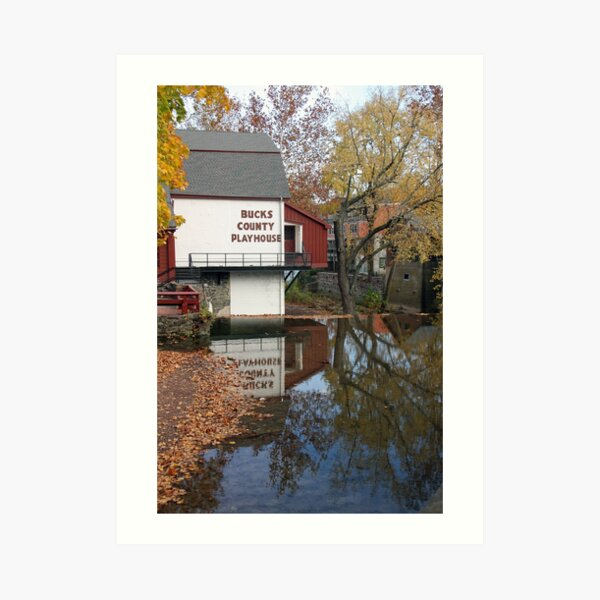 Bucks County Playhouse Art Print