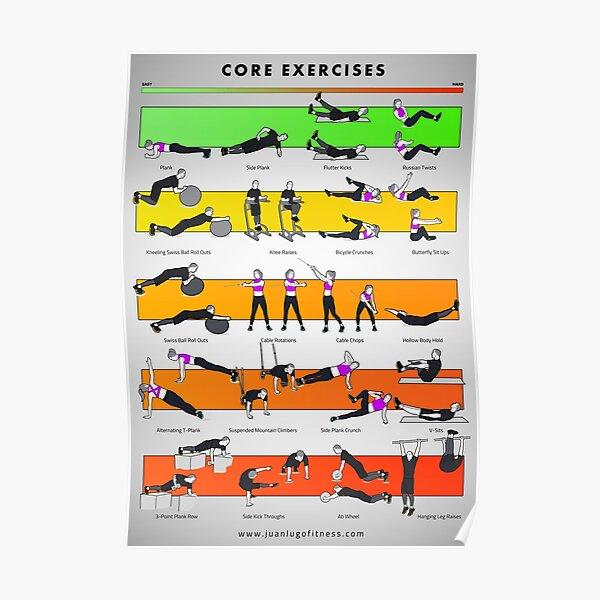 Core Exercises by JLFITNESSMIAMI Poster