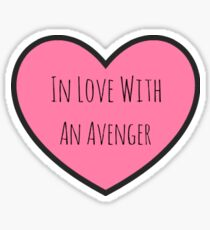 In Love With an Avenger Sticker