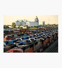 Trains On The Track Photographic Print