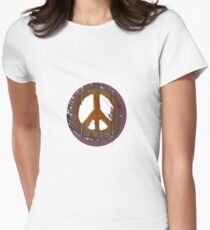 Peace Out II Womens Fitted T-Shirt