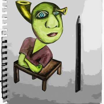 Shrek Drawing-T Shirt and Hoodie by StudlyMuffin