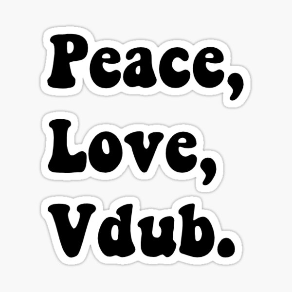 Peace Love Vdub Sticker Sticker