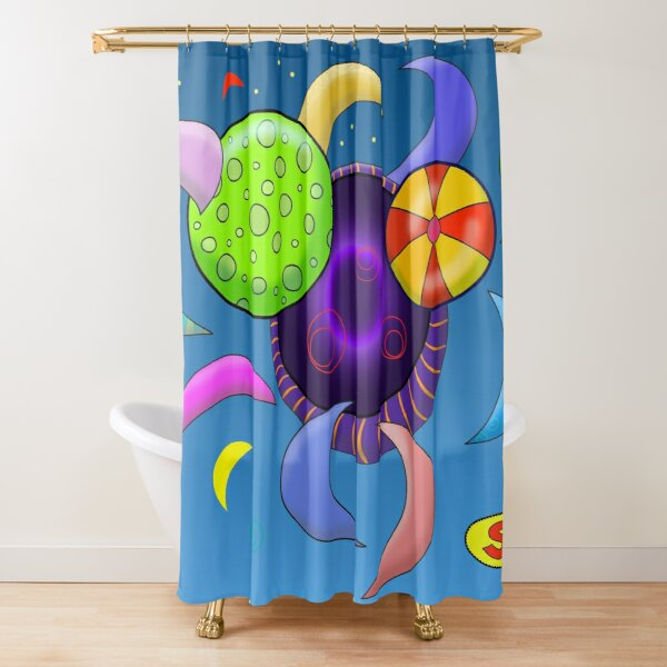 A Hole in the Universe Shower Curtain