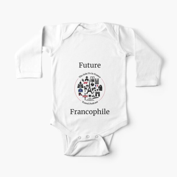 Future Francophile Long Sleeve Baby One-Piece