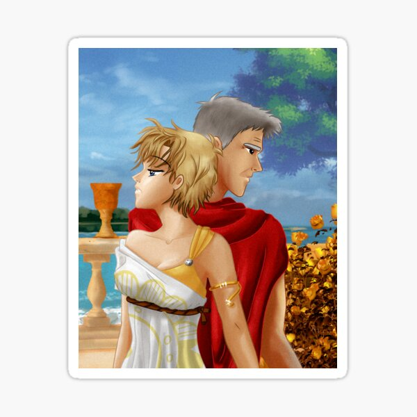 Ancient Roman Couple - Sam Carter and Jack O'Neill - Stargate Sticker