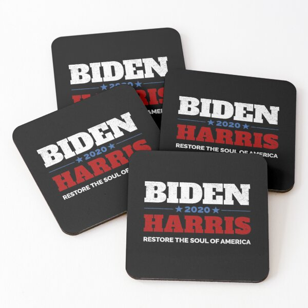 Biden Harris 2020 Restore The Soul Of America Coasters (Set of 4)