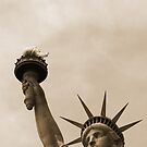 lady liberty sepia by Vin  Zzep
