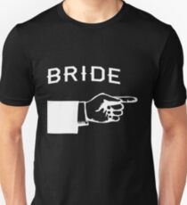 Bride Hand Pointing Right Unisex T-Shirt