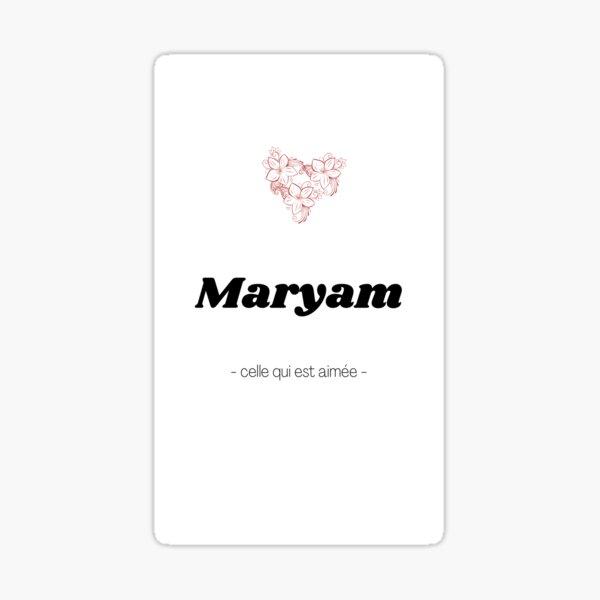 Maryam Sticker