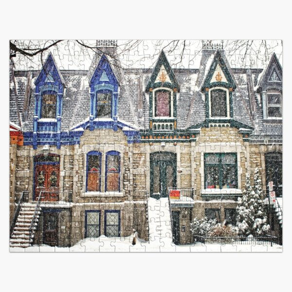 Montreal Victorian Architecture - The Enchanted Winter Jigsaw Puzzle