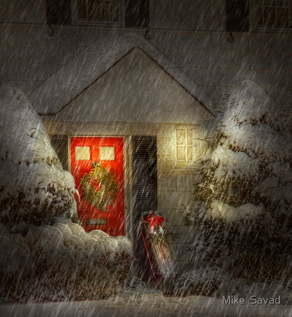 Winter - Westfield, NJ - T'was the night before Christmas  by Michael Savad