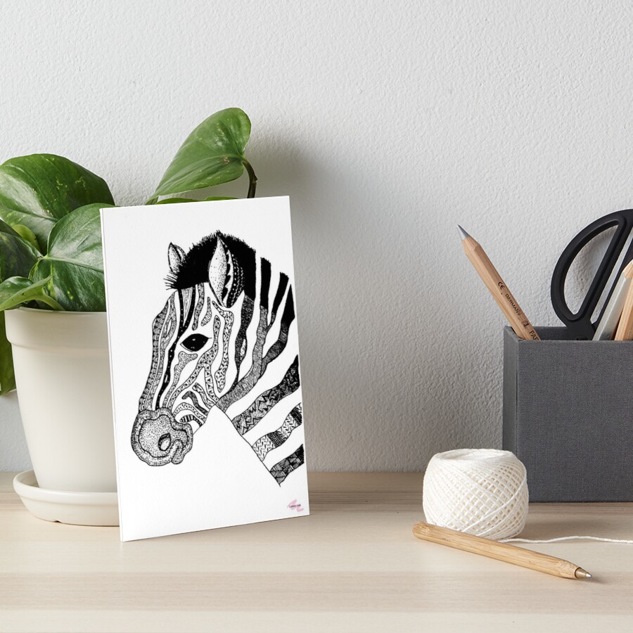Oreo the Zabra Art Board Print