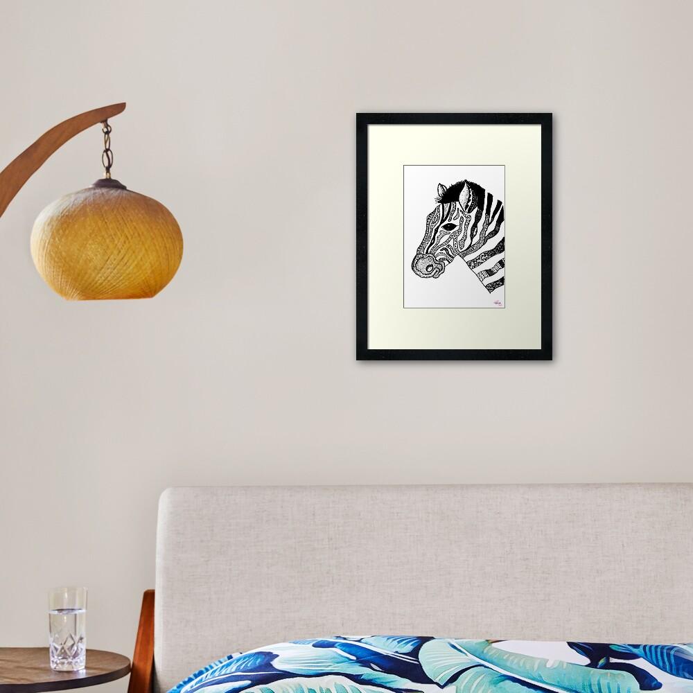 Oreo the Zabra Framed Art Print