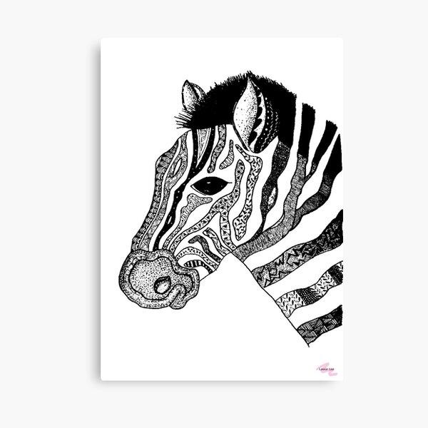 Oreo the Zabra Canvas Print